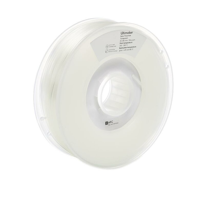 Ultimaker Nylon Transparent 2,85 mm 750 g