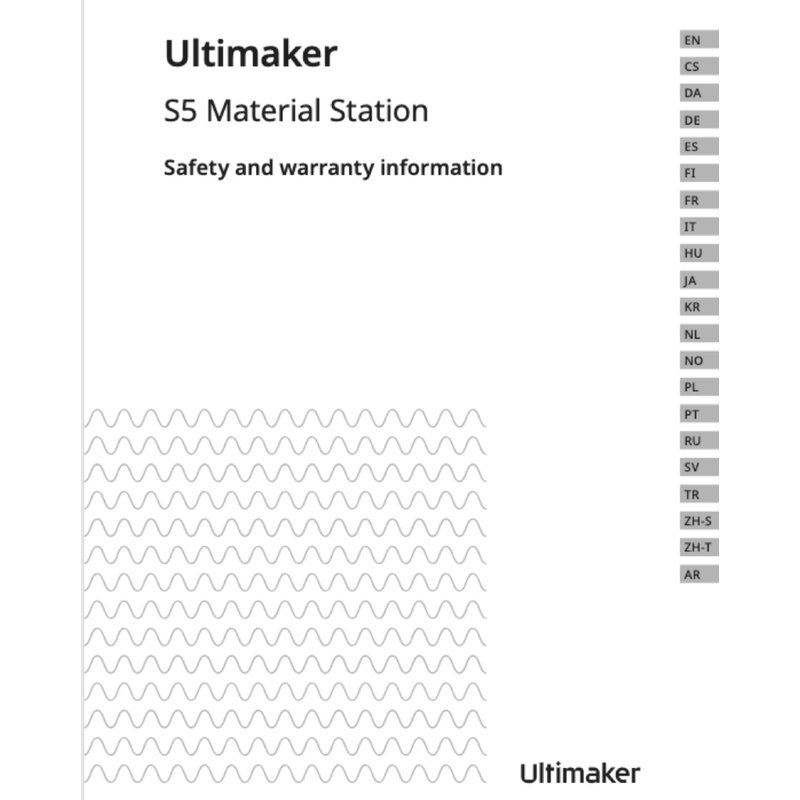 Ultimaker Safety Booklet Material Station S5 MS